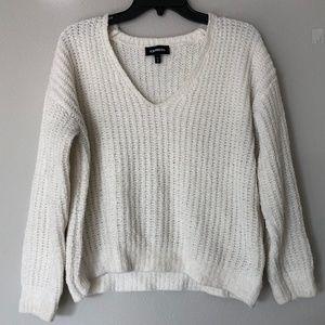 Express Cream Chenille Sweater Sz XS